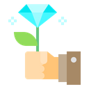 Gift Diamond Hand Icon