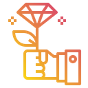 Gift Diamond Hand Icon