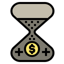 Investment Time Clock Icon