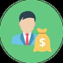 Investor Money Sack Dollar Sack Icon