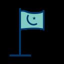 Islamic Flag Map Icon
