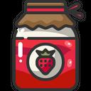 Jam Jar Strawberry Icon