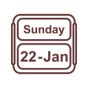 January Calendar Sunday Icon