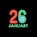 January Republic Day Icon