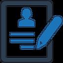 Contract Cv Job Application Icon