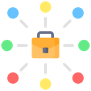 Job Community Office Network Network Icon