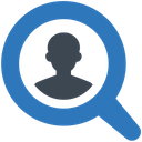 Applicant Find Search Candidate Icon