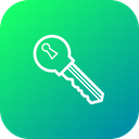 Key Bitcoin Access Icon