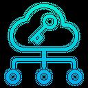 Cloud Key Lock Icon