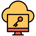 Cloud Computer Key Icon