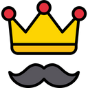 King Dad Father Mustache Icon