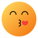 Kissing Face With Smiling Eyes Emoji Face Icon