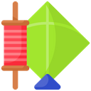 Artboard Kite And Thread Thread Icon