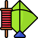 Kite And Thread Icon
