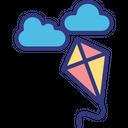 Kite flying Icon