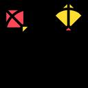 Artboard Kites Cutting Cut Icon