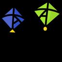 Kites Cutting Icon