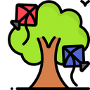 Artboard Copy Kites Stuck On Tree Kites Icon