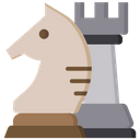 Knight And Rook Combination Power Icon