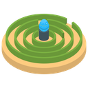 Labyrinth Maze Game Entanglement Icon