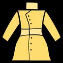 Warm Jacket Apparel Ladies Coat Icon
