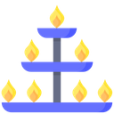 A Lamp Stand Diwali Lamp Icon