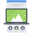 Landing Page Interface Icon