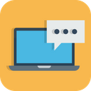 Laptop Chat Message Icon