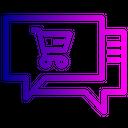 Laptop Chat Shop Icon