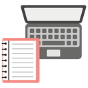 Laptop Learning Online Learning E Book Icon