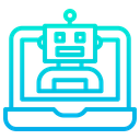 Laptop Robot Icon
