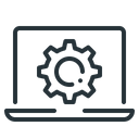 Laptop Setting Gear Icon