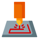 Laser Cutting Process Industry Icon