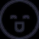 Laugh Emoji Outline Icon