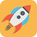 Launch Mission Rocket Icon