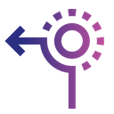 Left from Circle Icon