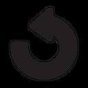 Left Refresh Symbol Desing Icon