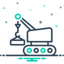 Lifting Crane Vehicle Icon