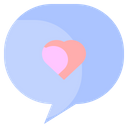 Like Heart Chat Icon