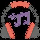 Listening Music Android Listening Headphones Art Icon