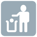 Litter In Bin Icon