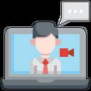 Live Chat Message Conversation Icon