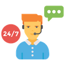 Live Support Hour Service Customer Care Icon