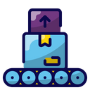 Loading Package Cargo Ship Transport Goods Icon