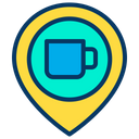 Cafe Location Location Pointer Location Marker Icon
