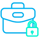 Lock Briefcase Icon