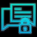 Lock Chatting Icon