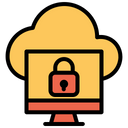 Cloud Computer Lock Icon