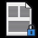 Lock File Lock Document Document Icon