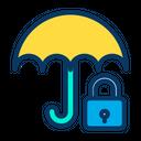 Protection Rain Protection Lock Umbrella Icon